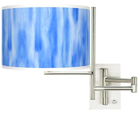 Tempo Blue Tide Plug-in Swing Arm Wall Light