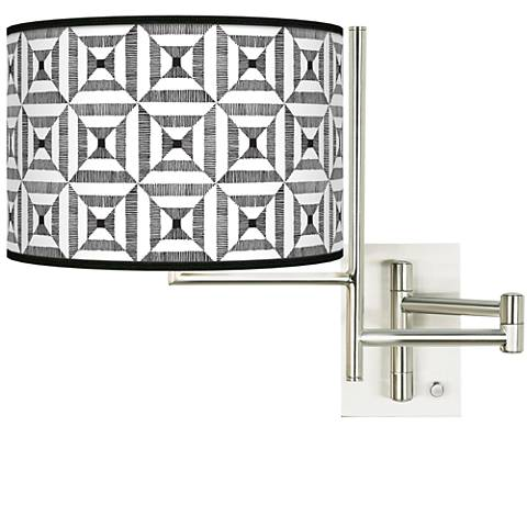 Tempo Tile Illusion Plug-in Swing Arm Wall Light