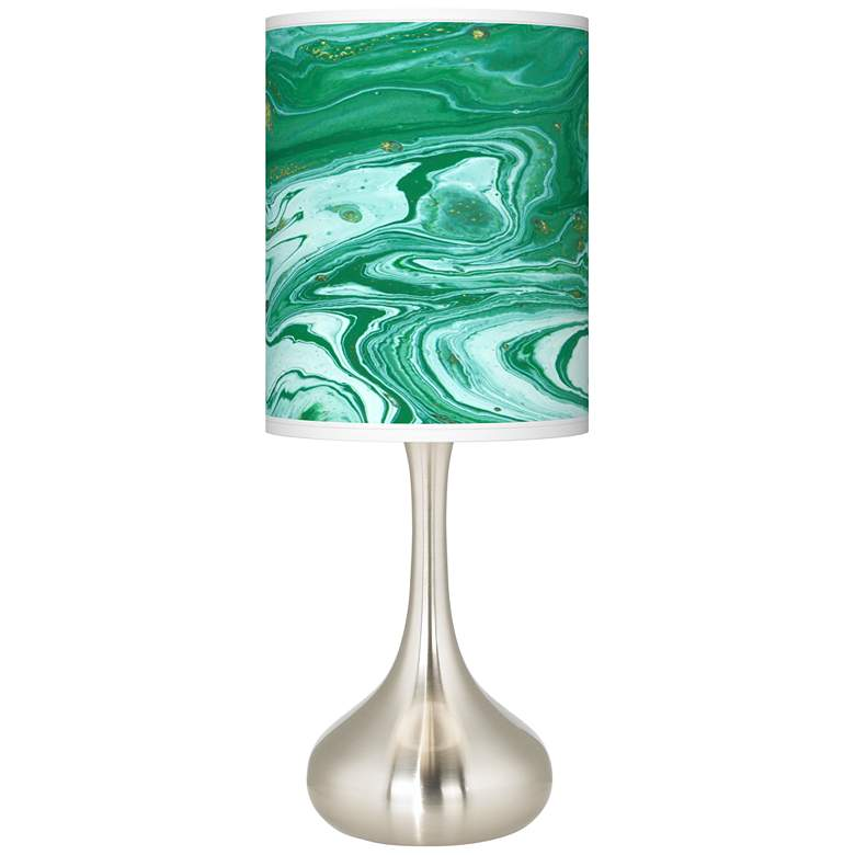 Malachite Giclee Droplet Table Lamp