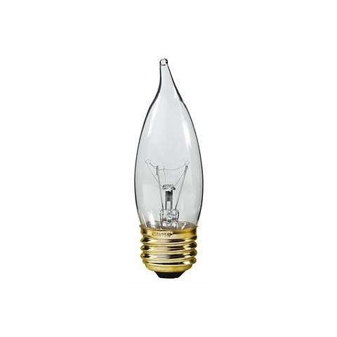 Candelabra 25-Watt Medium Base Clear Bulb
