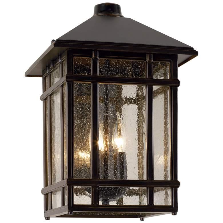 """J du J Sierra Craftsman 15"""" High Bronze Outdoor Wall Light"""