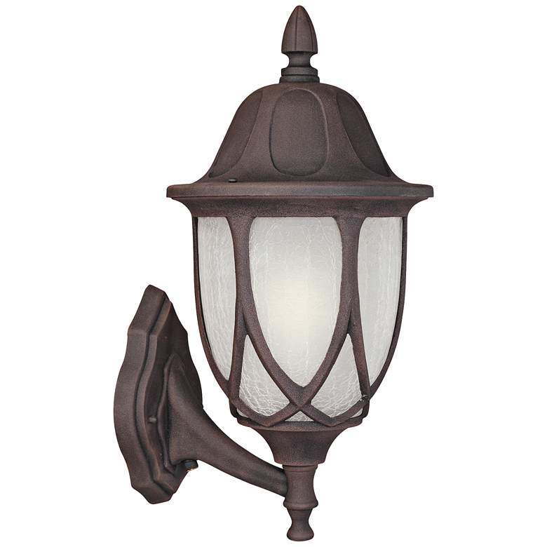 """Capella 18"""" High Crackled Glass Gold Outdoor Wall Light"""