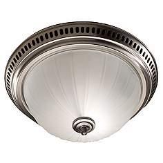 Nutone Satin Nickel Bathroom Exhaust Fan With Light