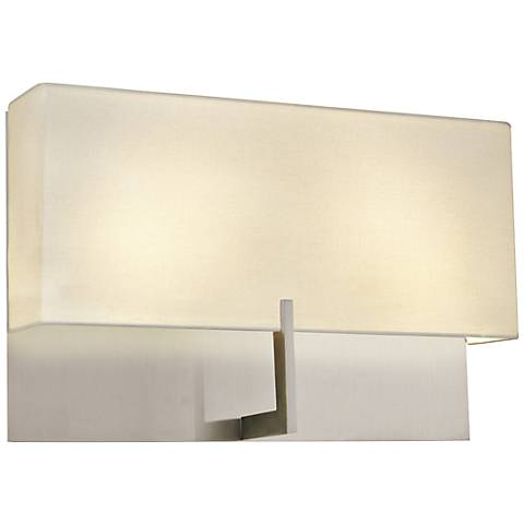 "Sonneman Staffa 16"" Wide Satin Nickel Wall Sconce"