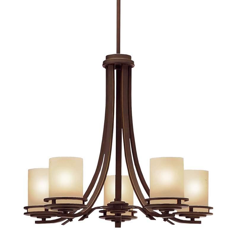 """Hendrik Bronze 24 1/2"""" Wide 5-Light Chandelier"""
