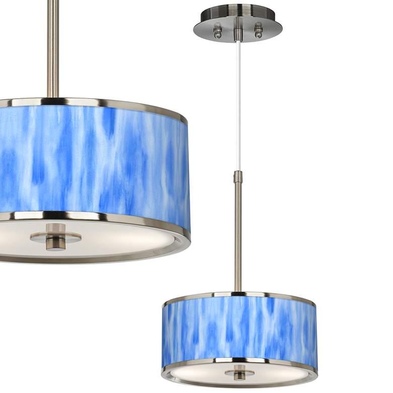 """Blue Tide Giclee Glow 10 1/4"""" Wide Mini Pendant"""