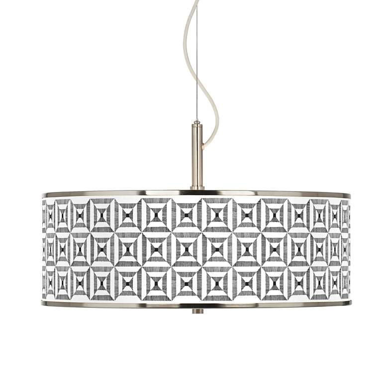 "Tile Illusion Giclee Glow 20"" Wide Pendant Light"