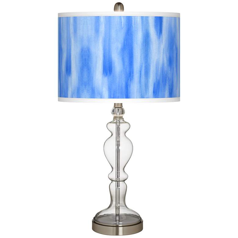 Blue Tide Giclee Apothecary Clear Glass Table Lamp