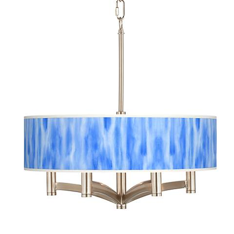 Blue Tide Ava 6-Light Nickel Pendant Chandelier