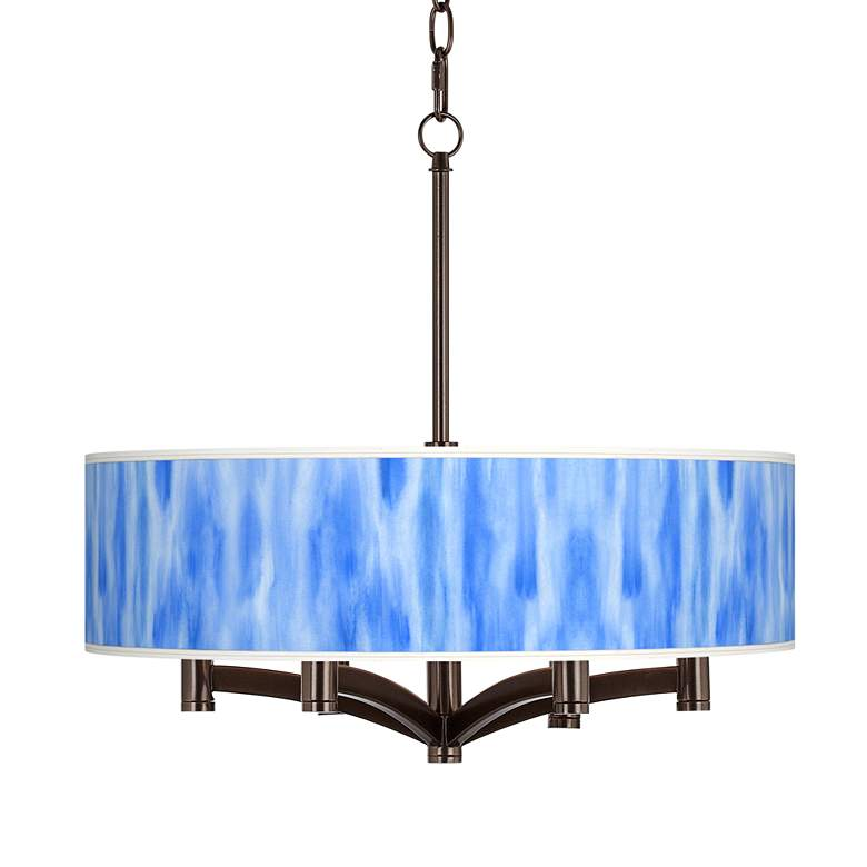 Blue Tide Ava 6-Light Bronze Pendant Chandelier