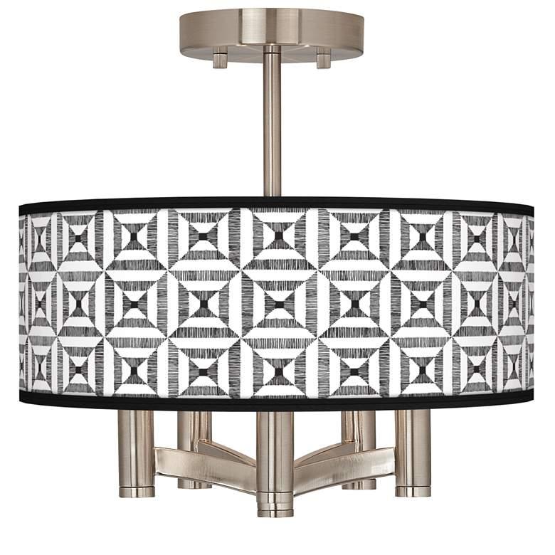 Tile Illusion Ava 5-Light Nickel Ceiling Light