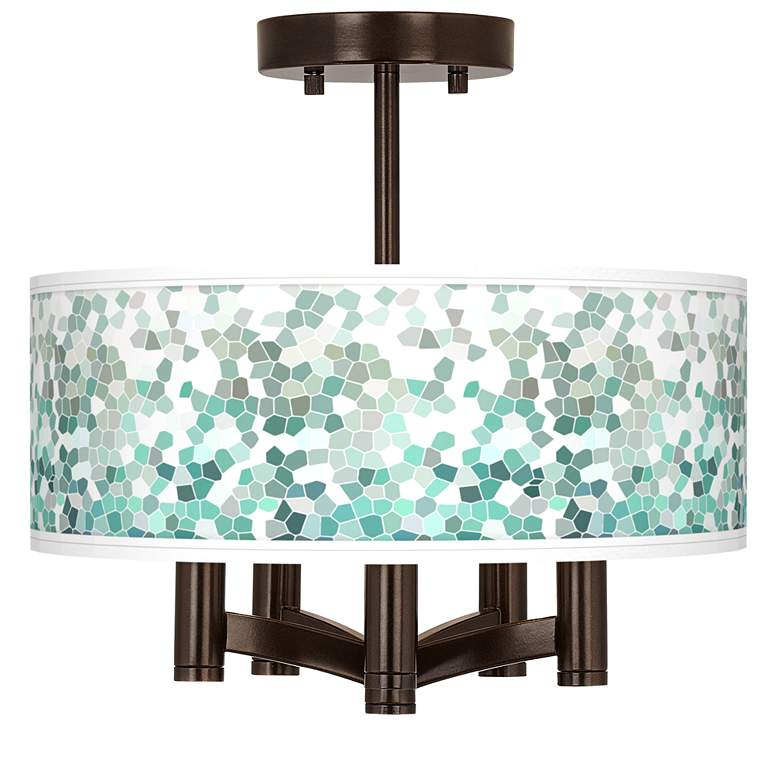 Aqua Mosaic Ava 5-Light Bronze Ceiling Light