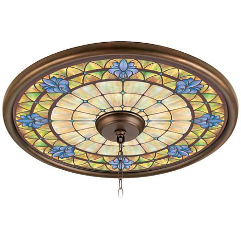 """Orchid Chapel 24"""" Giclee Bronze Ceiling Medallion"""