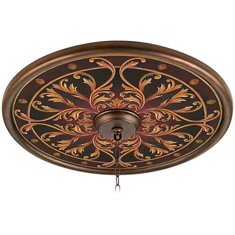 """Tracery Jewels 24"""" Wide Bronze Finish Ceiling Medallion"""