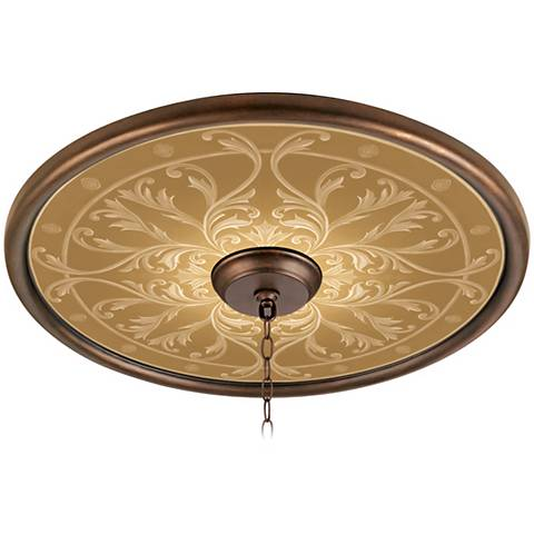"""Tracery Spice 24"""" Wide Bronze Finish Ceiling Medallion"""