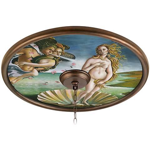 "Italian Renaissance Mural 24"" Wide Bronze Finish Medallion"