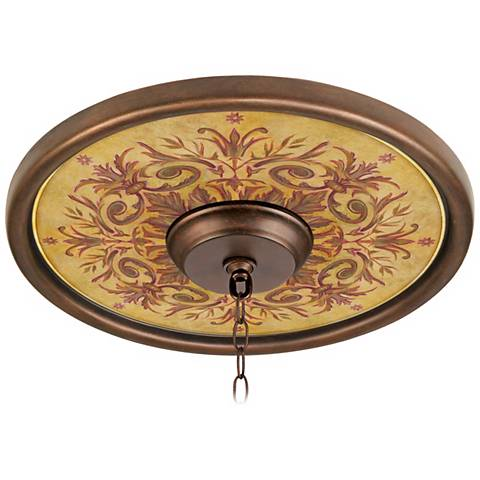 """Tuscan Wine 16"""" Wide Bronze Finish Ceiling Medallion"""