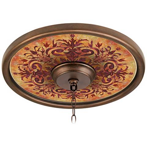 """Tuscan Fire 16"""" Wide Bronze Finish Ceiling Medallion"""
