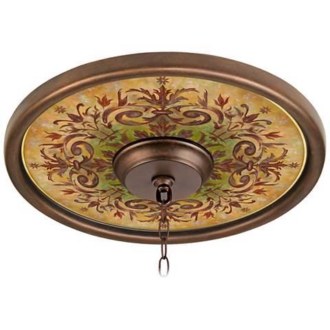 "Tuscan Basil 16"" Wide Bronze Finish Ceiling Medallion"