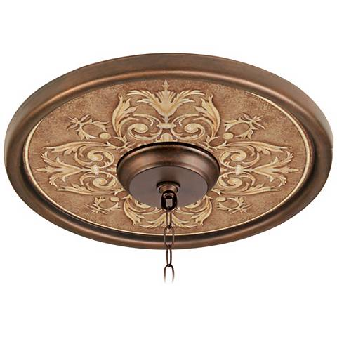 """Antiquity Clay 16"""" Wide Bronze Finish Ceiling Medallion"""