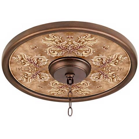 """Byzantium Giclee 16"""" Wide Bronze Ceiling Medallion"""