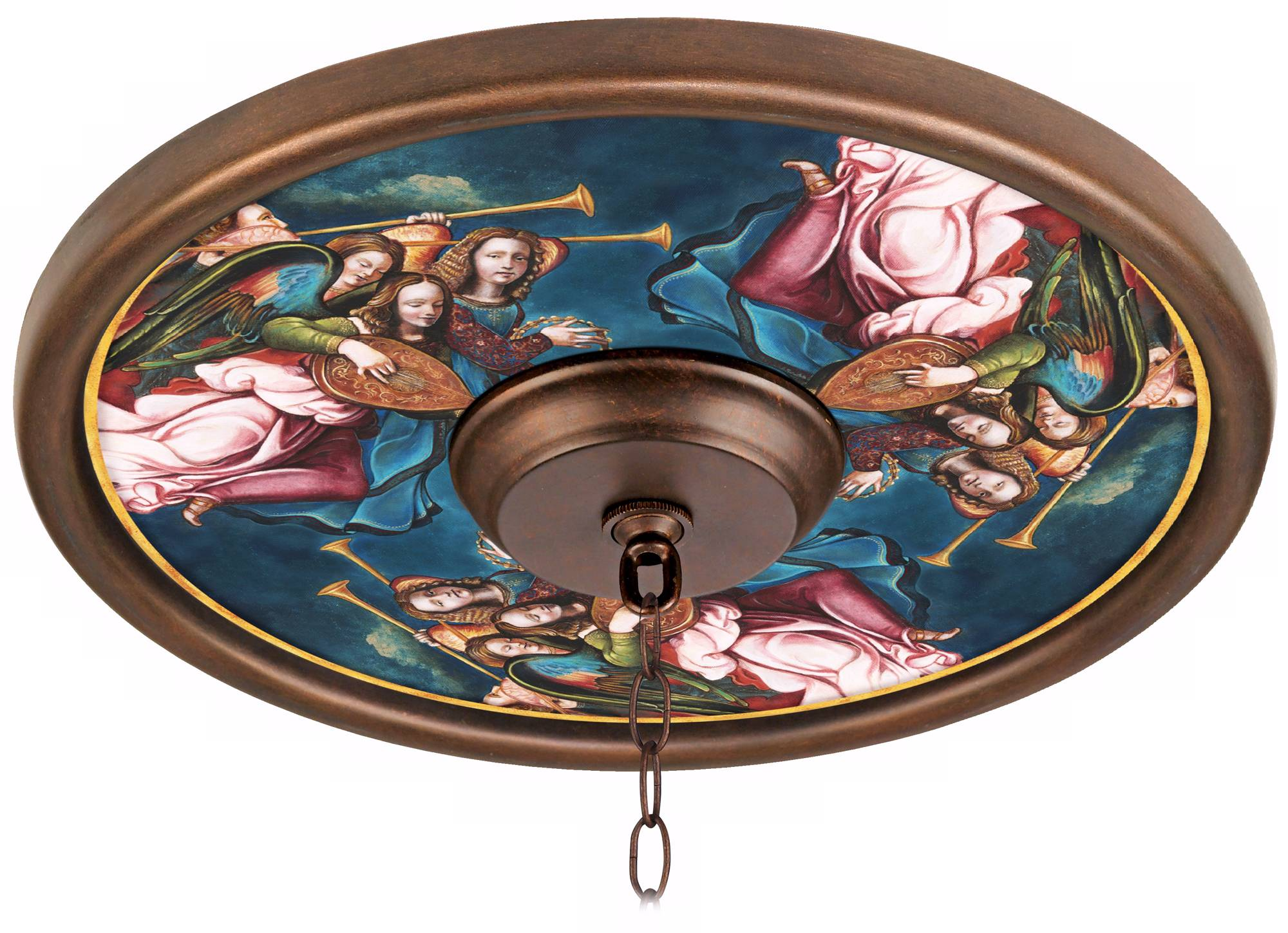 Pascola 30 1 2 Quot Wide Imperial Bronze Ceiling Medallion