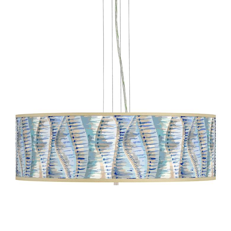 "Siren Giclee 24"" Wide 4-Light Pendant Chandelier"
