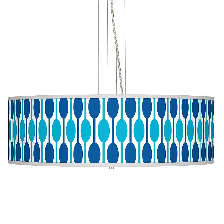 "Jet Set Giclee 24"" Wide Four Light Pendant Chandelier"