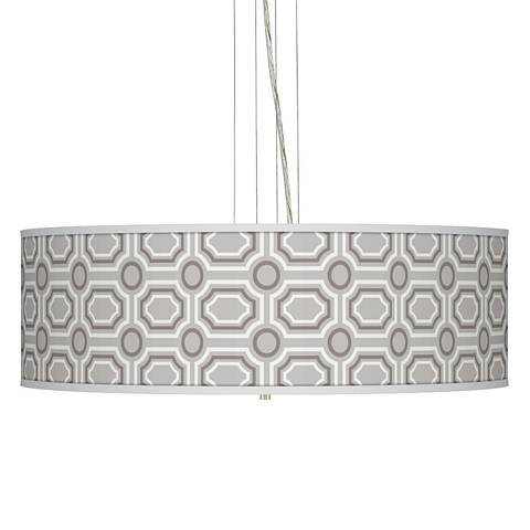 "Luxe Tile Giclee 24"" Wide Four Light Pendant Chandelier"