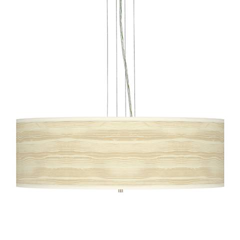 "Birch Blonde Giclee 24"" Wide Four Light Pendant Chandelier"