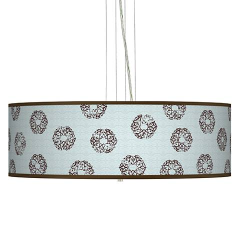 "Weathered Medallion Giclee 24"" Wide Pendant Chandelier"