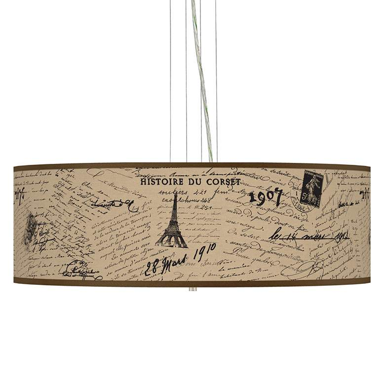 Letters To Paris Giclee Pendant Chandelier
