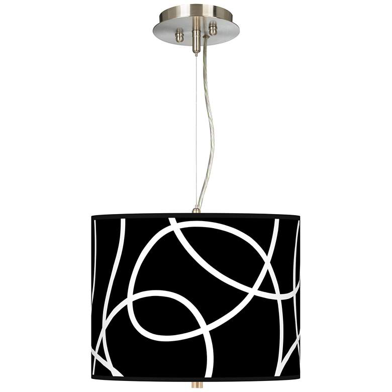 """Abstract 13 1/2"""" Wide 2-Light Pendant Chandelier"""