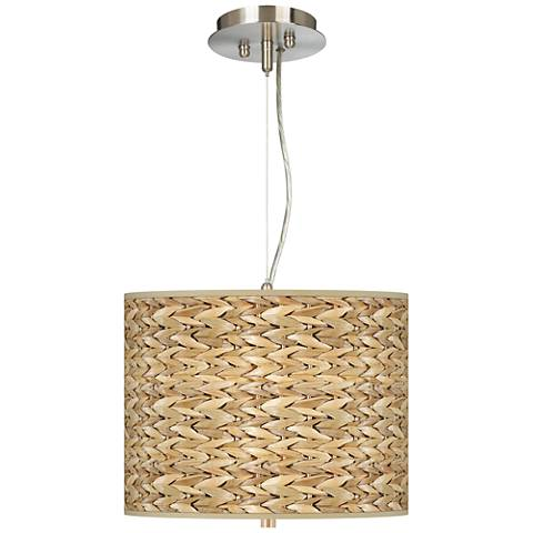 "Seagrass Giclee 13 1/2"" Wide Pendant Chandelier"