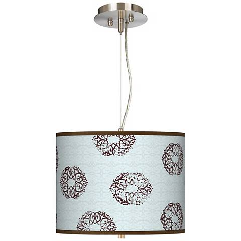"""Weathered Medallion Giclee 13 1/2"""" Wide Pendant Chandelier"""