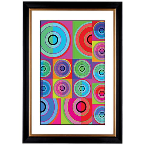"Giclee Circle Noise 41 3/8"" High Wall Art"