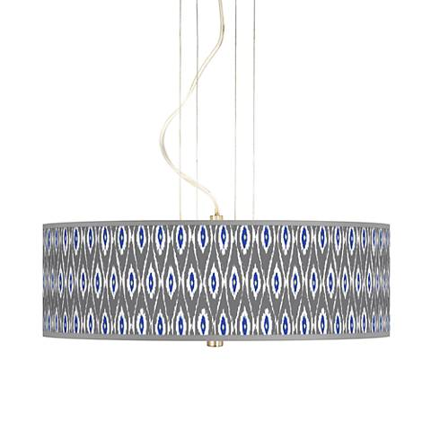 "American Ikat 20"" Wide 3-Light Pendant Chandelier"
