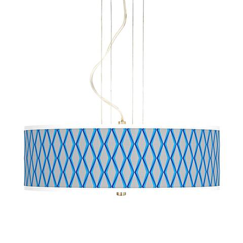 """Bleu Matrix 20"""" Wide 3-Light Pendant Chandelier"""