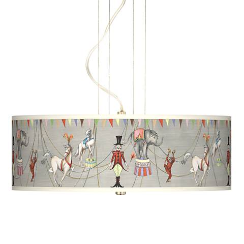 "Circus Time Giclee 20"" Wide Pendant Chandelier"