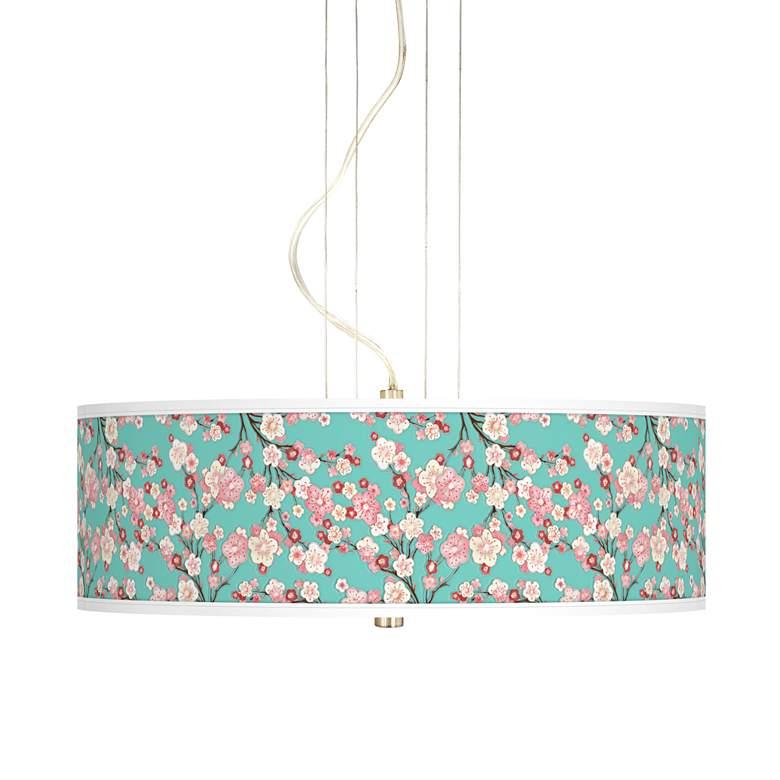 "Cherry Blossoms 20"" Wide 3-Light Pendant Chandelier"