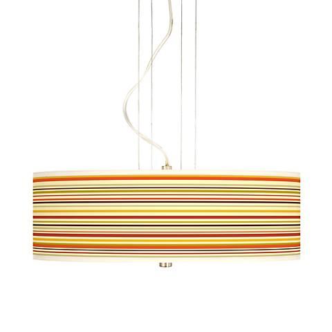 "Stacy Garcia Lemongrass Stripe 20"" Wide Giclee Pendant"