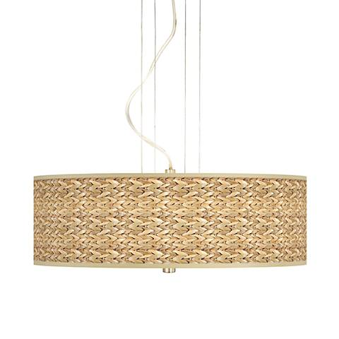 "Seagrass 20"" Wide 3-Light Pendant Chandelier"
