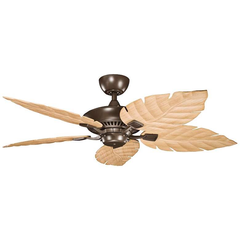 """52"""" Canfield Climates™ Mocha - Oak Outdoor Ceiling Fan"""