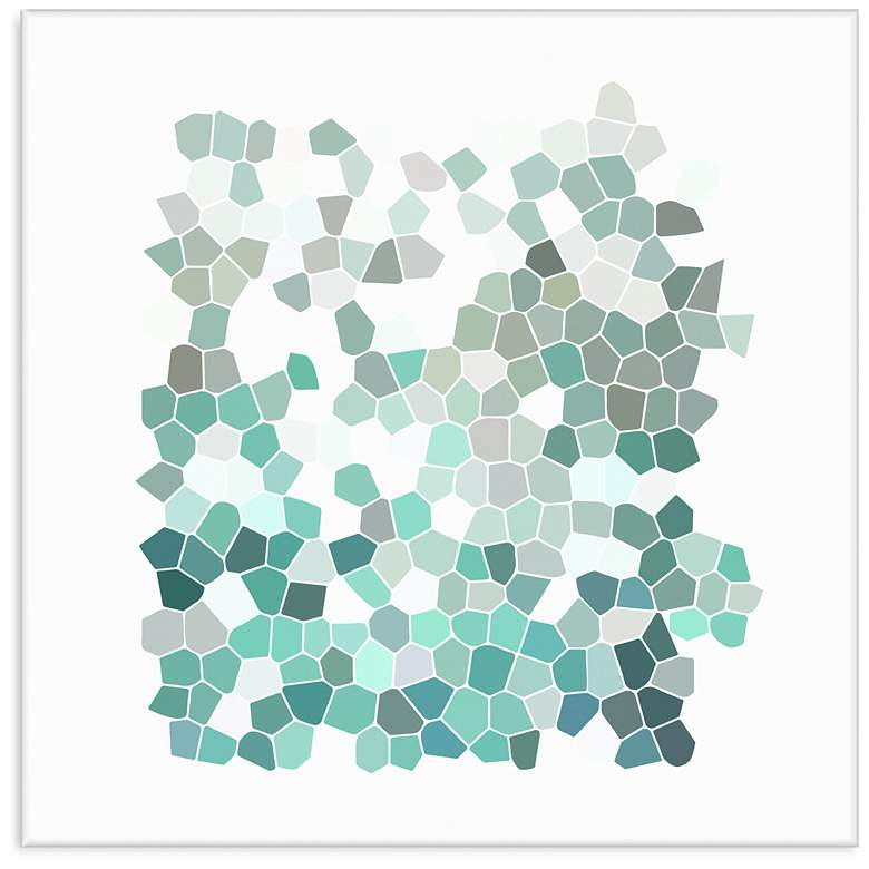 "Aqua Mosaic 36"" Square Giclee Wall Art"