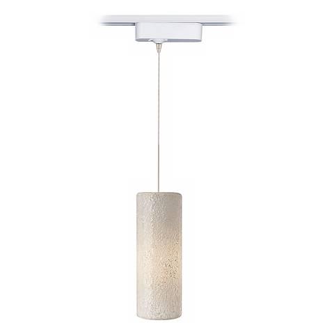 LED Veil White Glass Tech Pendant for Lightolier Track Systems