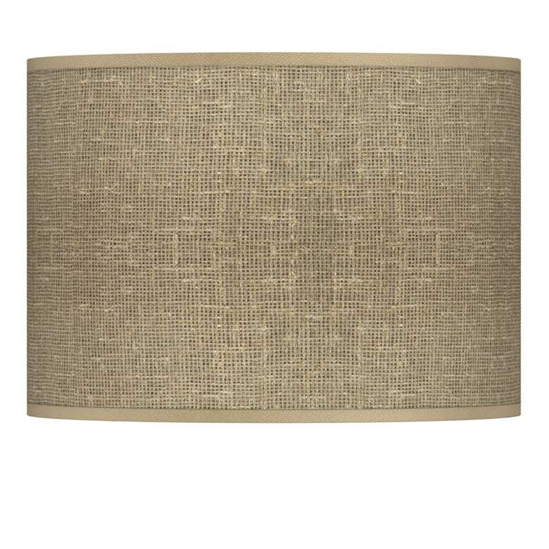 Burlap Print Giclee Lamp Shade 13.5x13.5x10 (Spider)