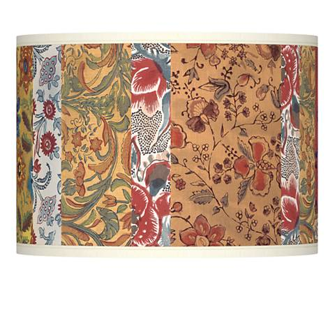 Bohemian Blooms Giclee Lamp Shade 13.5x13.5x10 (Spider)
