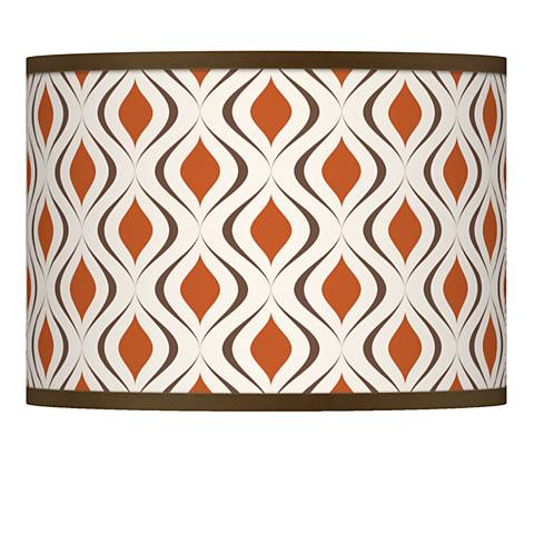 Retro Lattice Giclee Lamp Shade 13.5x13.5x10 (Spider)