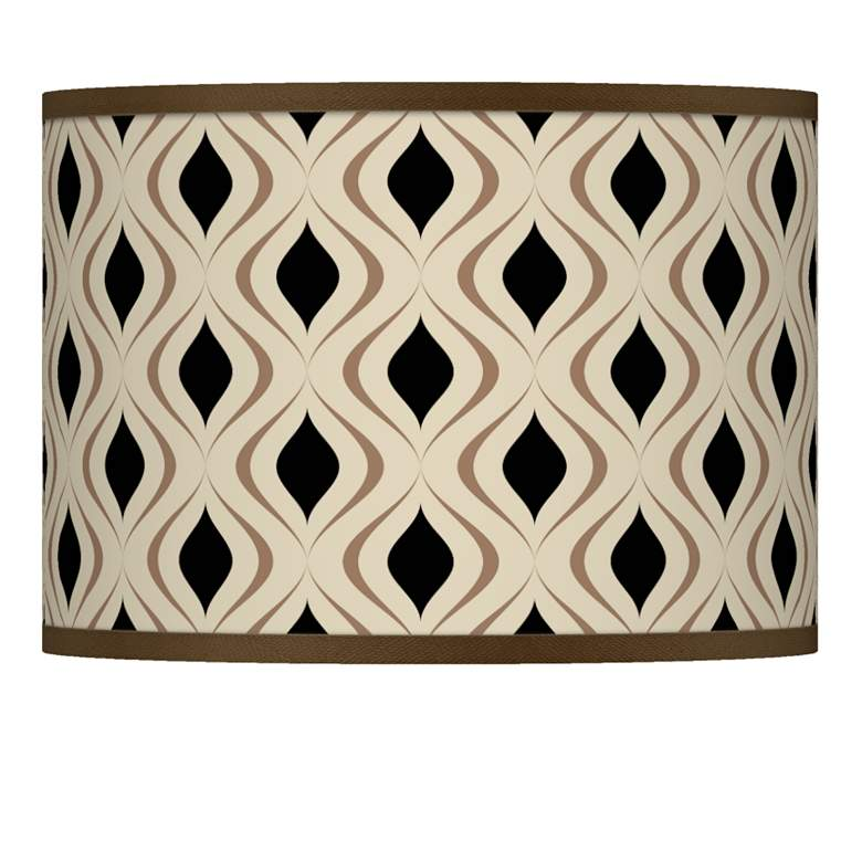 Gray Retro Lattice Giclee Shade 13.5x13.5x10 (Spider)