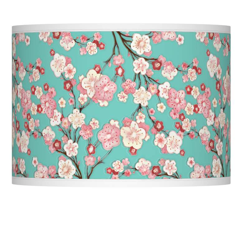 Cherry Blossoms Giclee Lamp Shade 13.5x13.5x10 (Spider)